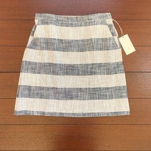 A New Day Striped A-Line Navy and Cream Skirt